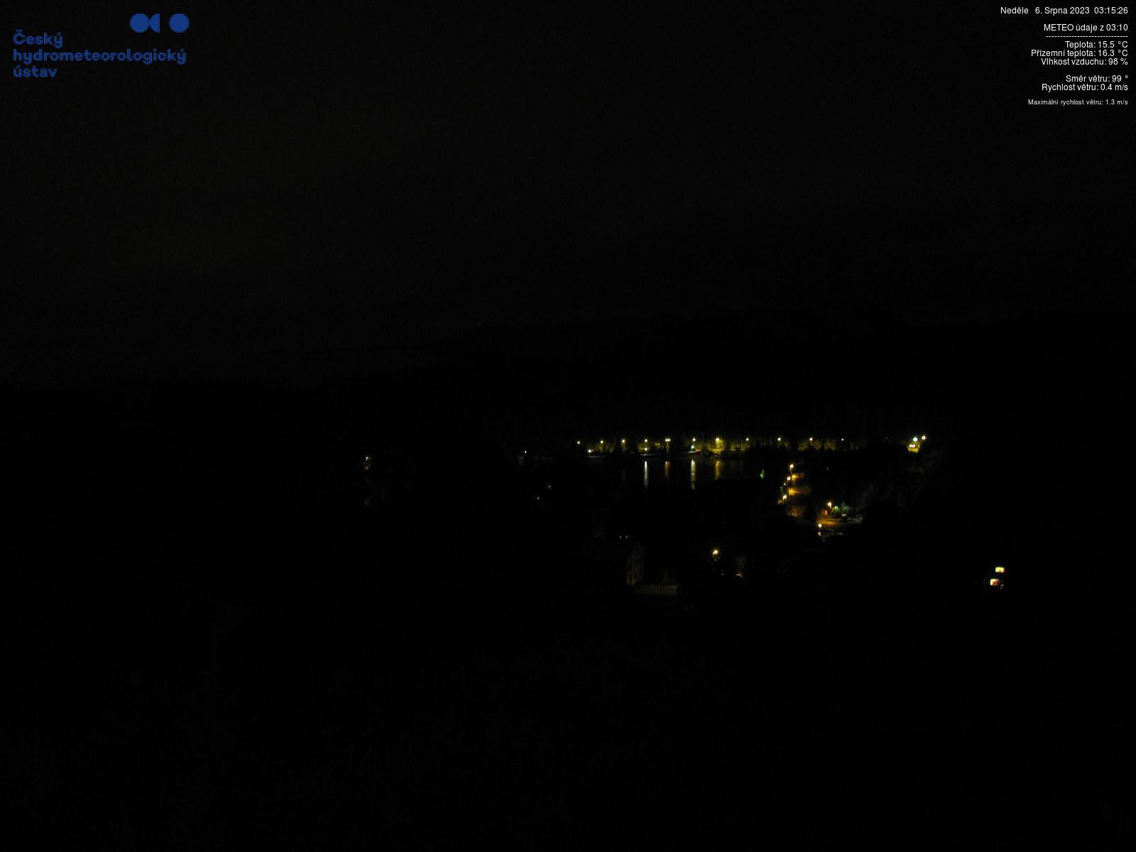 HD webkamera Horní Bečva v Beskydech z Hotelu Duo